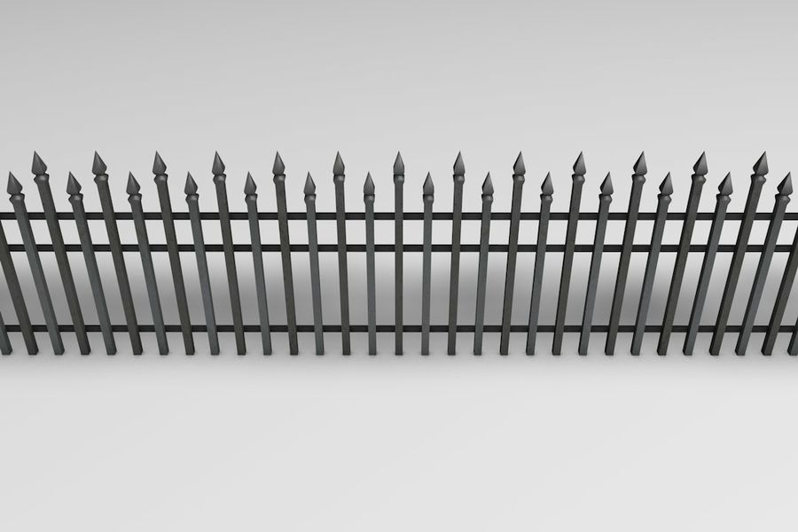 Zäune Pack royalty-free 3d model - Preview no. 22