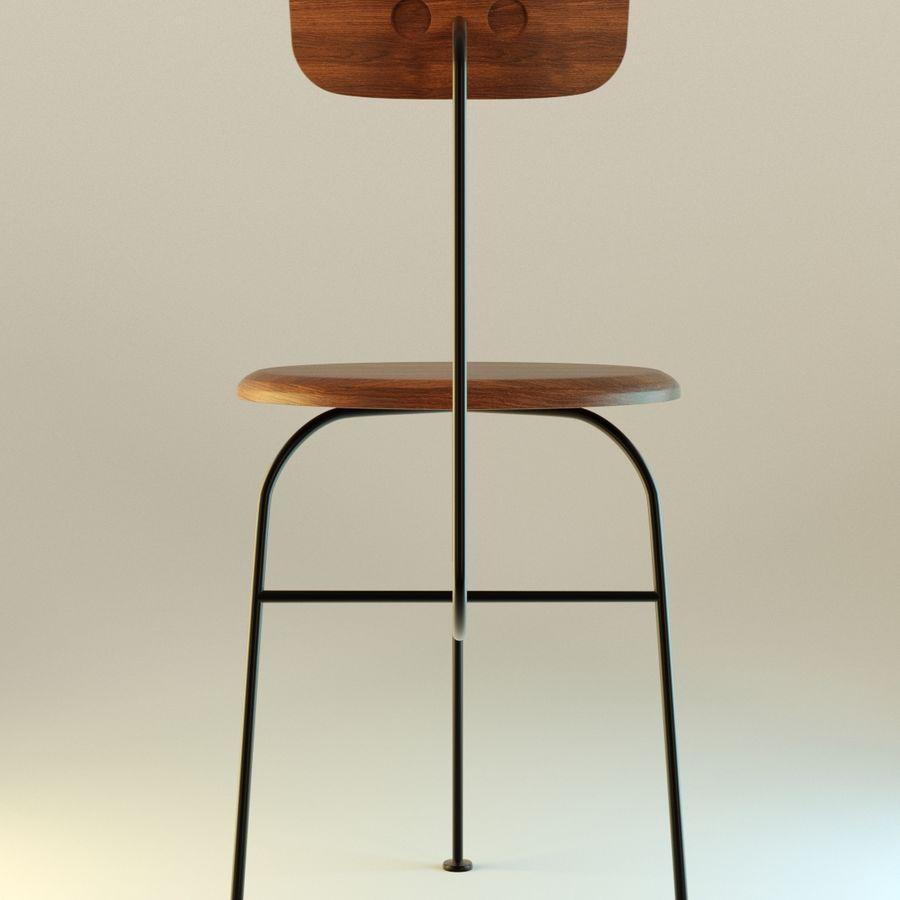 Krzesło proste drewniane royalty-free 3d model - Preview no. 5