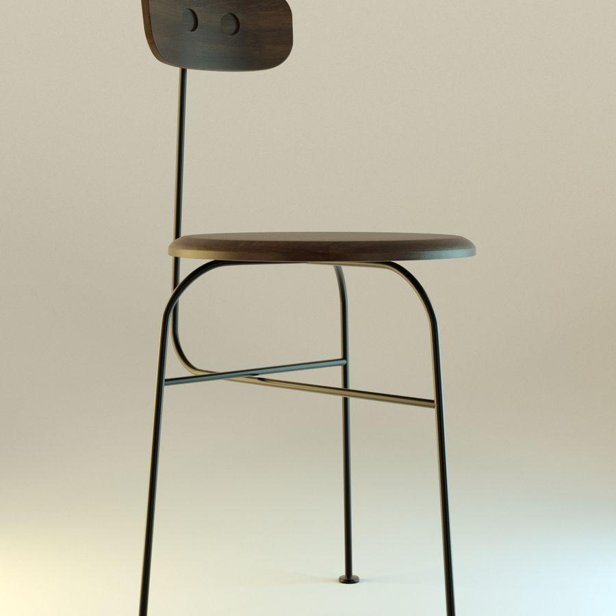 Krzesło proste drewniane royalty-free 3d model - Preview no. 6