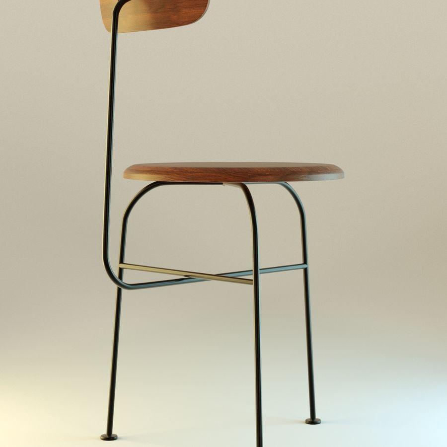 Krzesło proste drewniane royalty-free 3d model - Preview no. 4