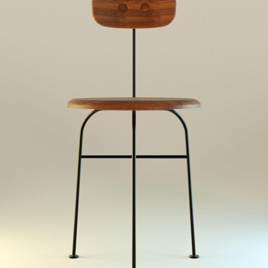 Krzesło proste drewniane royalty-free 3d model - Preview no. 1