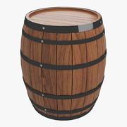 와인 배럴 3d model