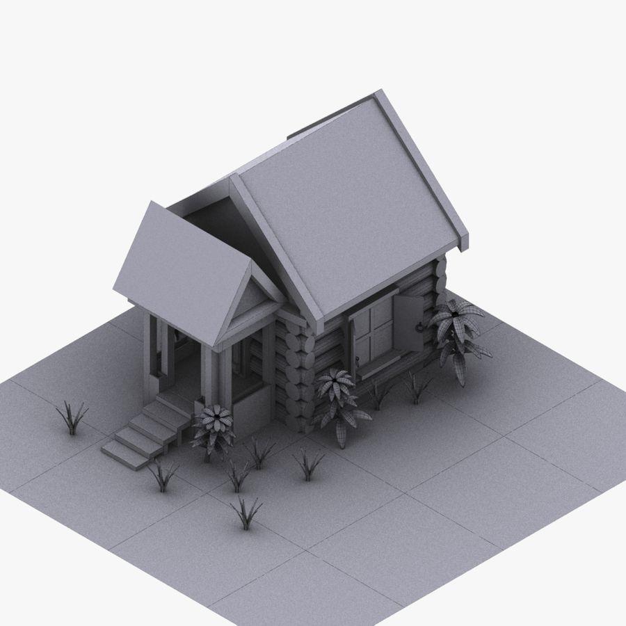 오두막 royalty-free 3d model - Preview no. 2