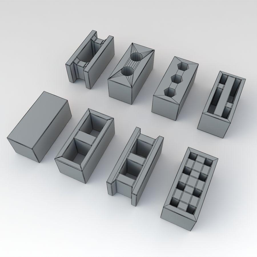 Concrete Blocks royalty-free 3d model - Preview no. 6