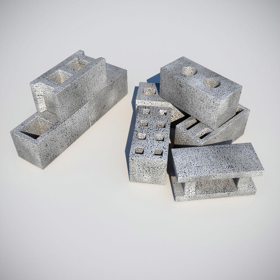 Concrete Blocks royalty-free 3d model - Preview no. 11