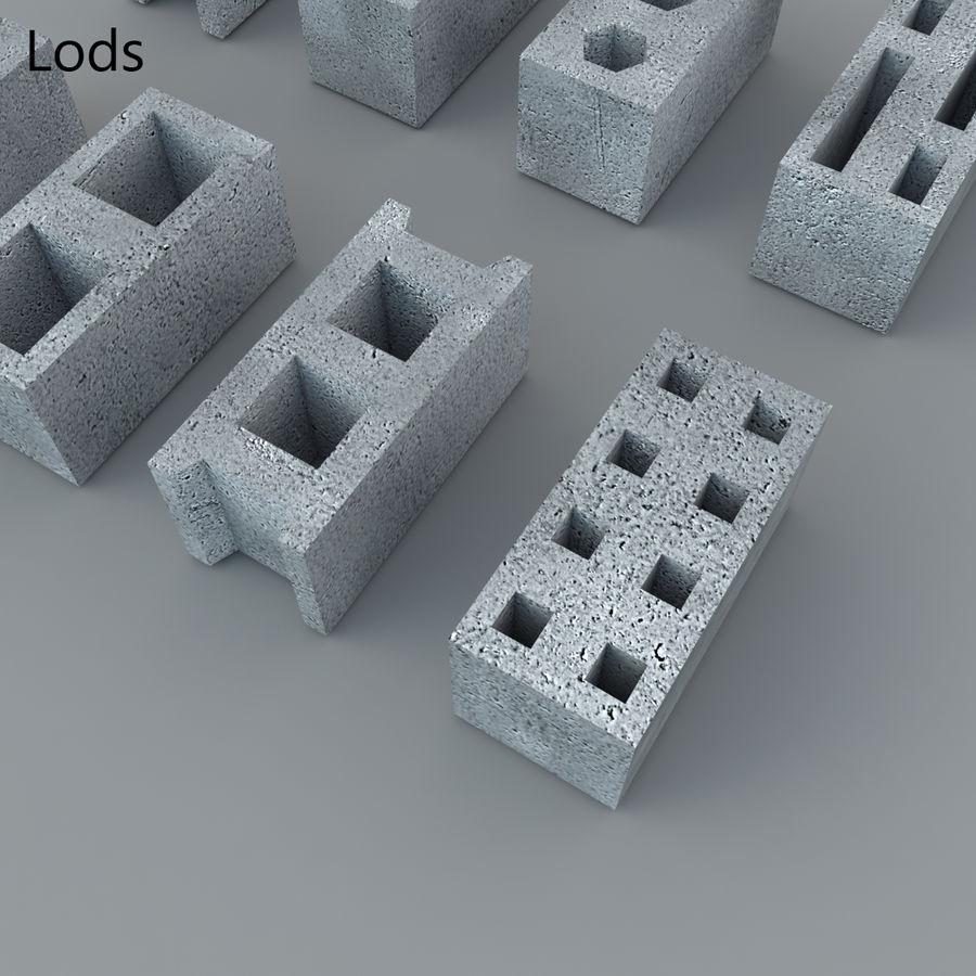 Concrete Blocks royalty-free 3d model - Preview no. 9