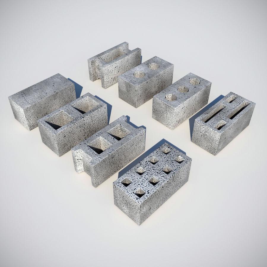 Concrete Blocks royalty-free 3d model - Preview no. 1