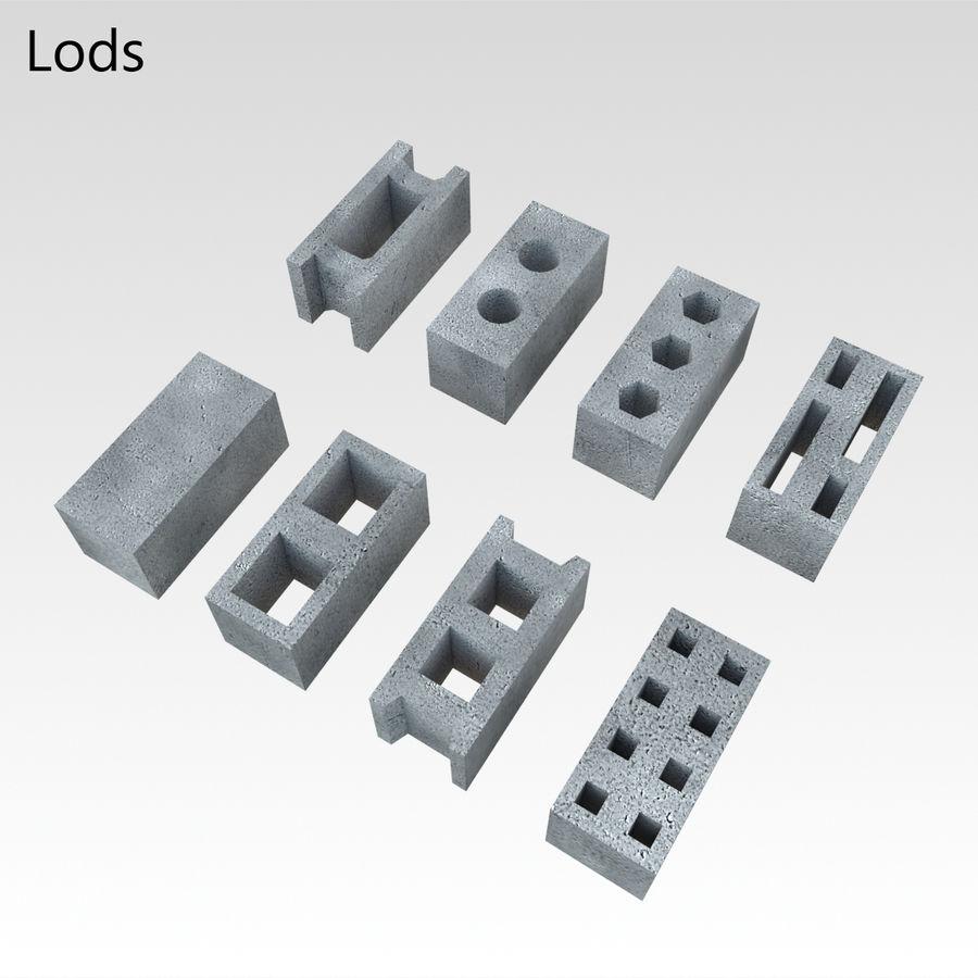 Concrete Blocks royalty-free 3d model - Preview no. 8