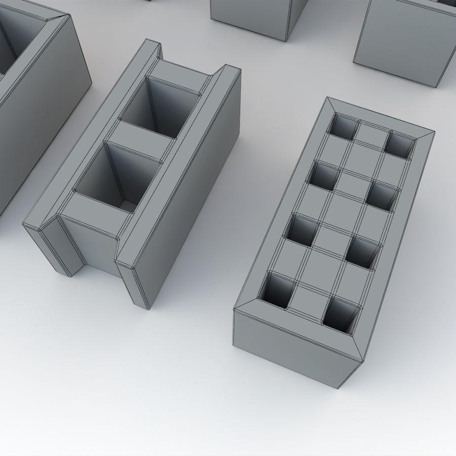 Concrete Blocks royalty-free 3d model - Preview no. 7