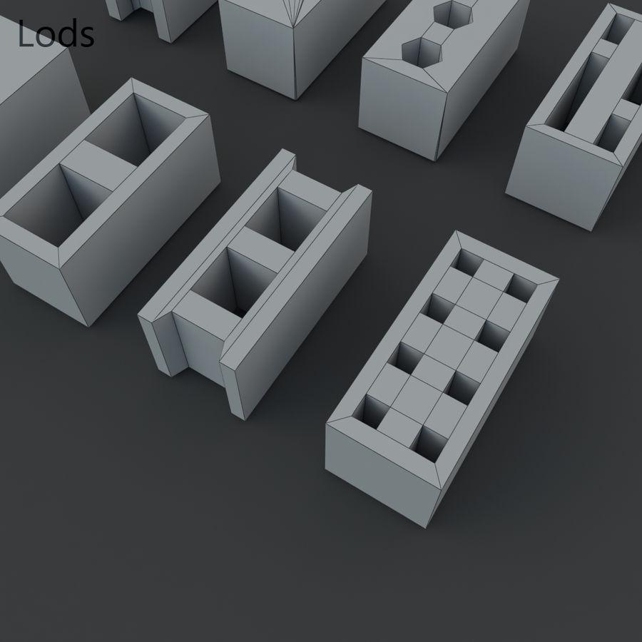 Concrete Blocks royalty-free 3d model - Preview no. 10