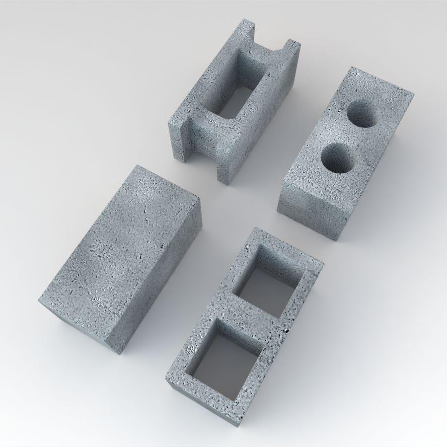 Concrete Blocks royalty-free 3d model - Preview no. 5