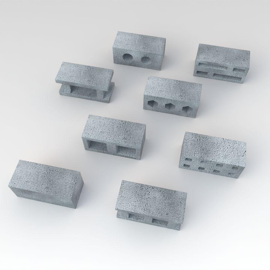 Concrete Blocks royalty-free 3d model - Preview no. 3