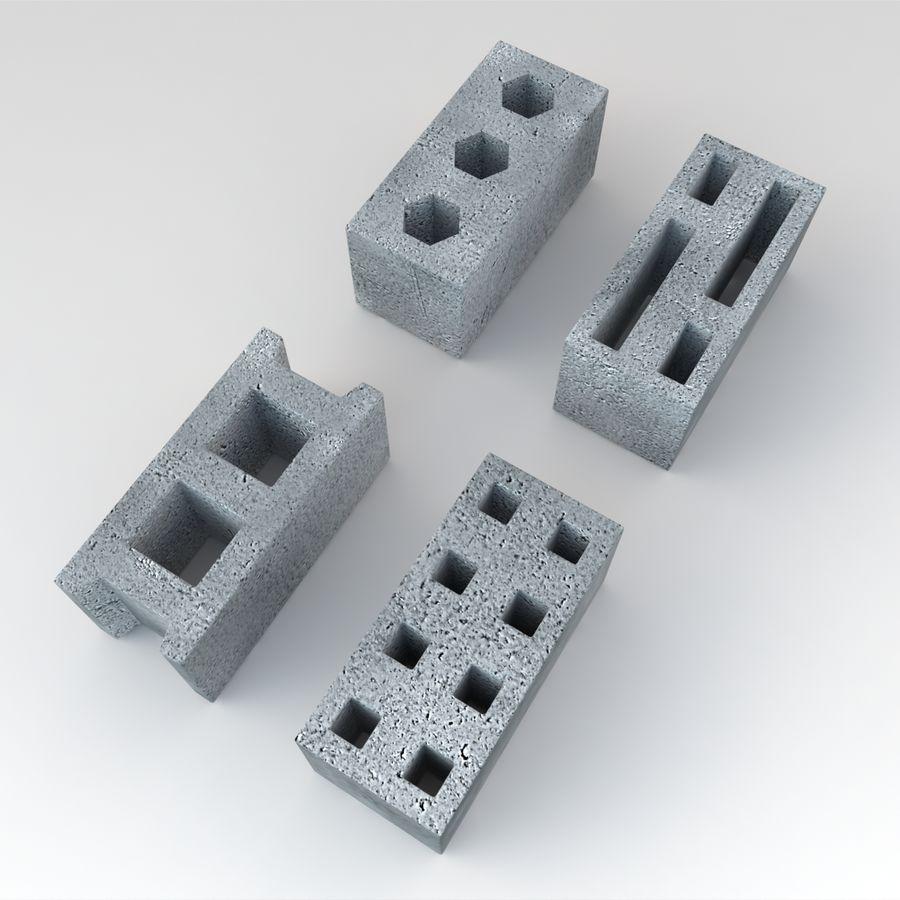 Concrete Blocks royalty-free 3d model - Preview no. 4