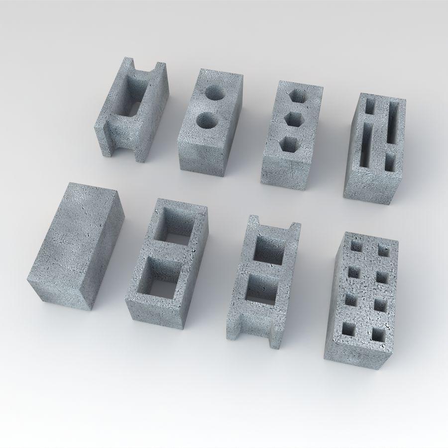 Concrete Blocks royalty-free 3d model - Preview no. 2