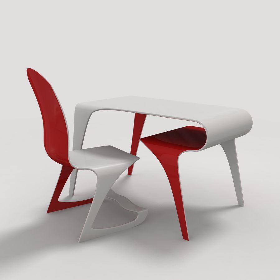 Mesa y silla futurista royalty-free modelo 3d - Preview no. 1