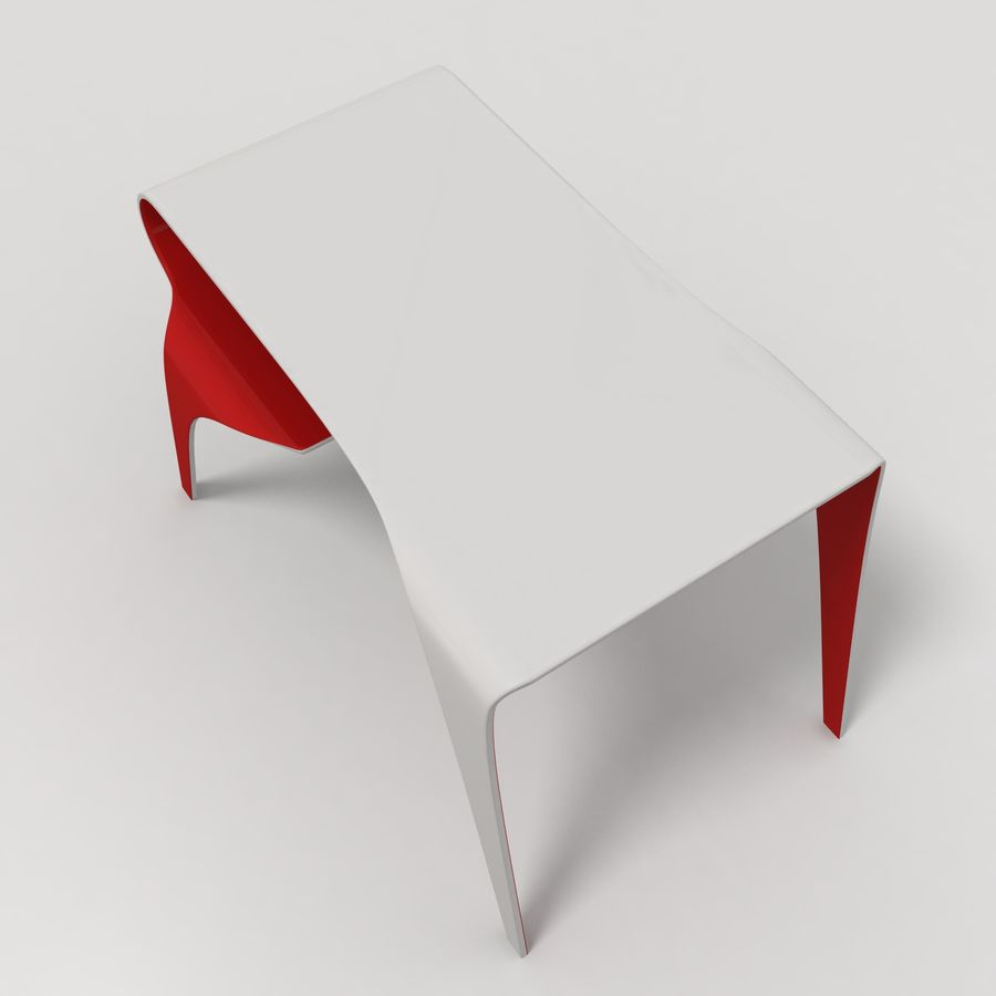 Mesa y silla futurista royalty-free modelo 3d - Preview no. 4
