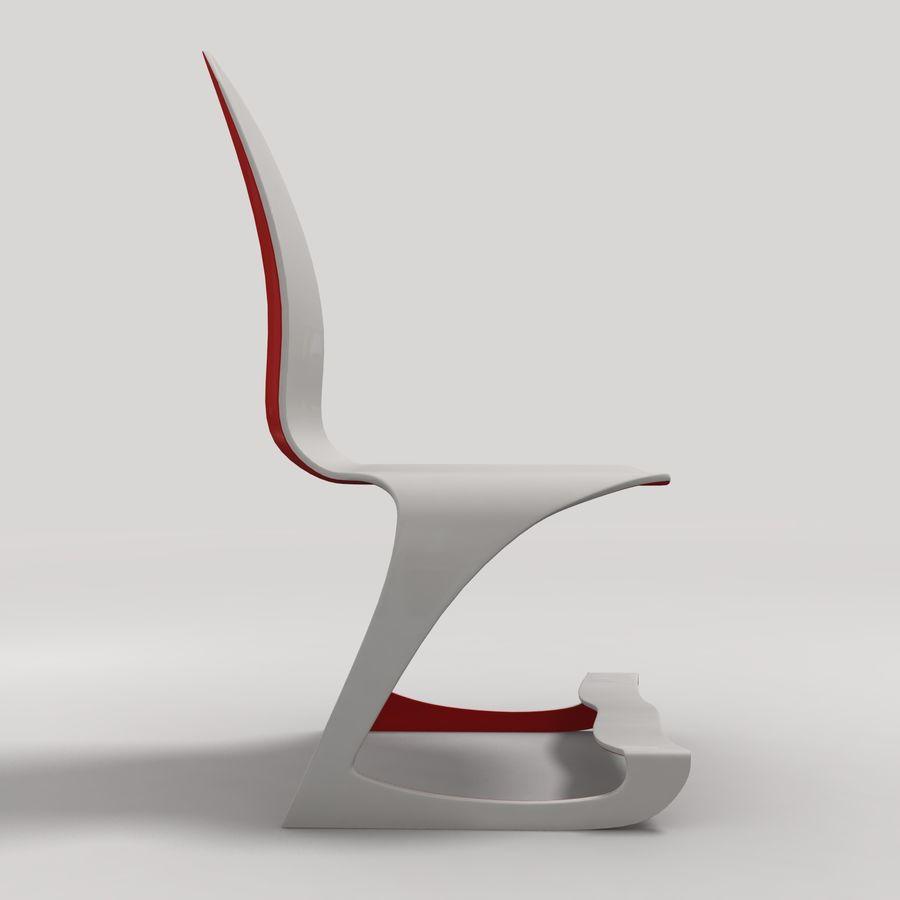 Mesa y silla futurista royalty-free modelo 3d - Preview no. 6