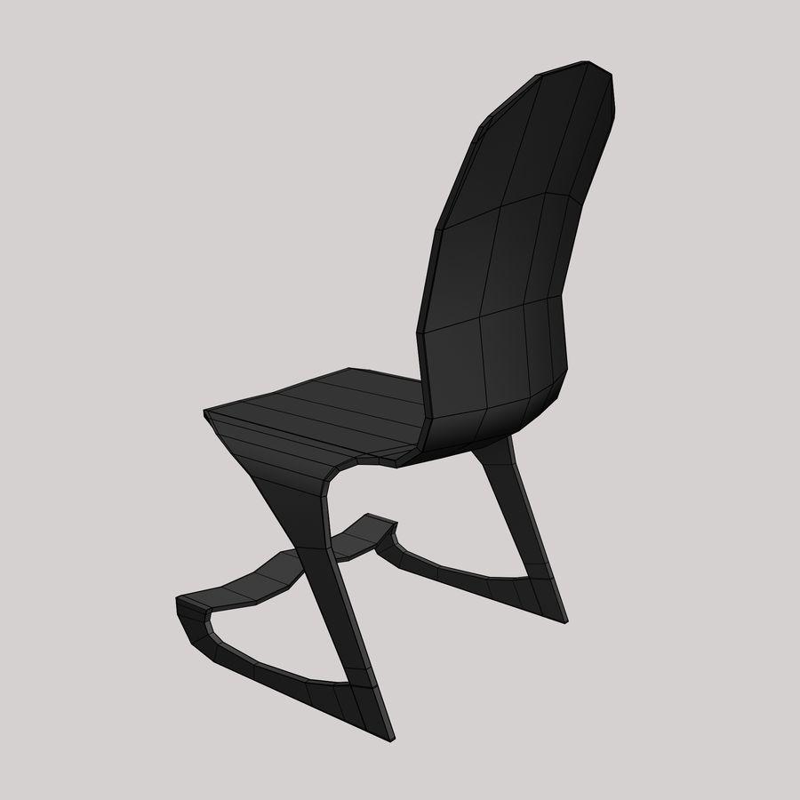 Mesa y silla futurista royalty-free modelo 3d - Preview no. 10
