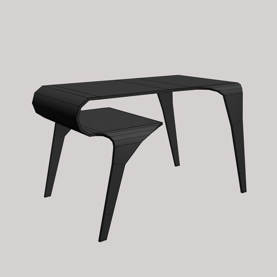 Mesa y silla futurista royalty-free modelo 3d - Preview no. 7