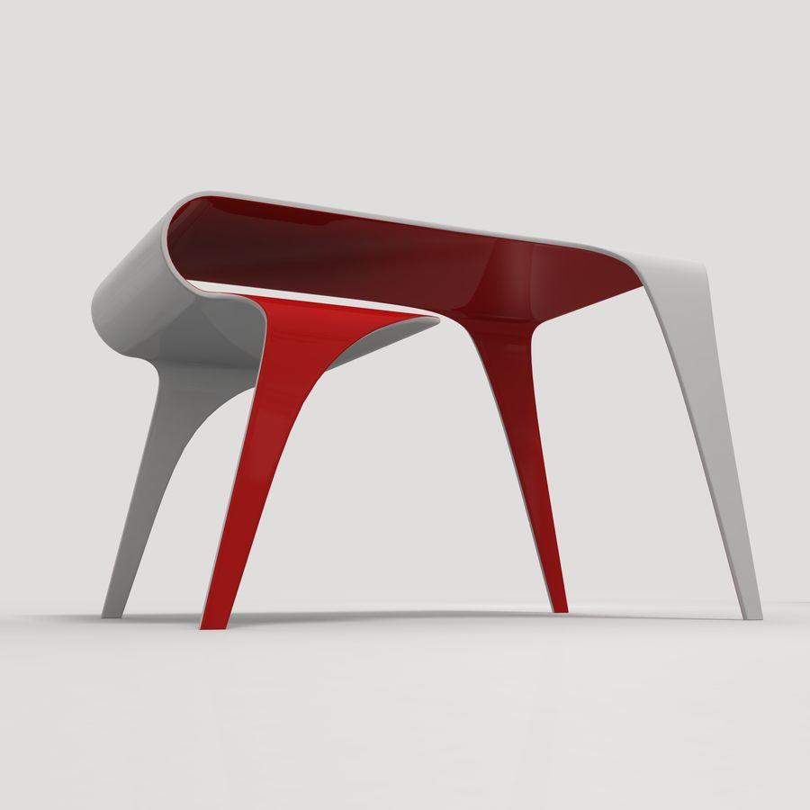 Mesa y silla futurista royalty-free modelo 3d - Preview no. 3
