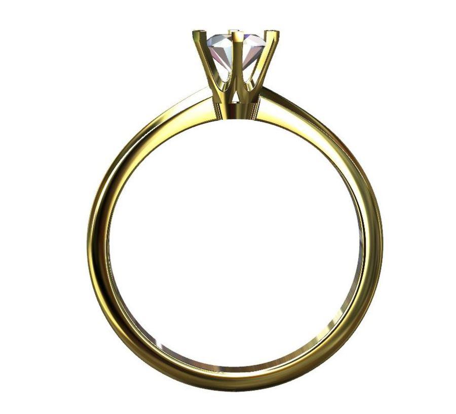 Solitaire 0.5ct nişan yüzüğü royalty-free 3d model - Preview no. 2