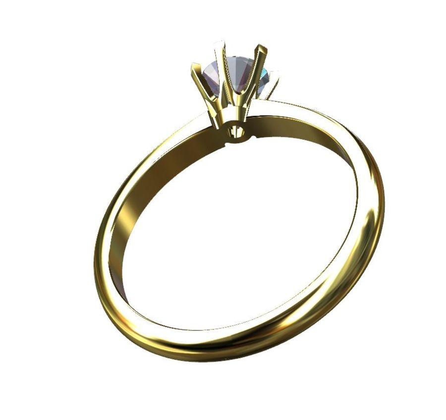 Solitaire 0.5ct nişan yüzüğü royalty-free 3d model - Preview no. 5