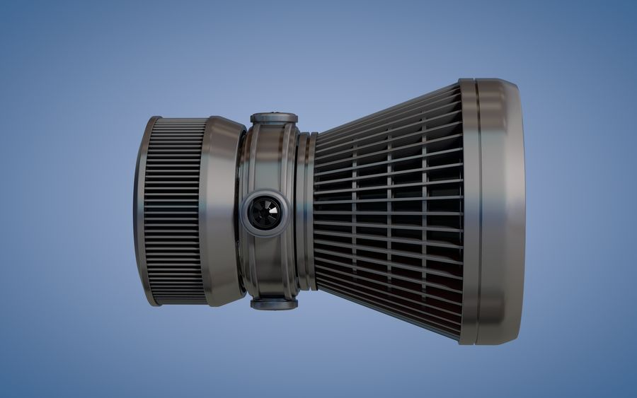 Spaceship Thruster royalty-free 3d model - Preview no. 4