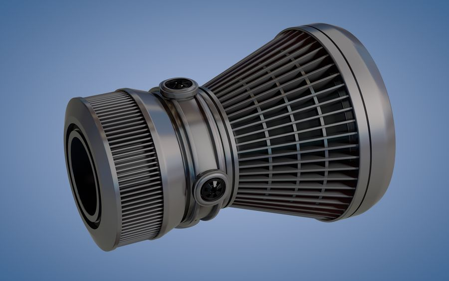 Spaceship Thruster royalty-free 3d model - Preview no. 2