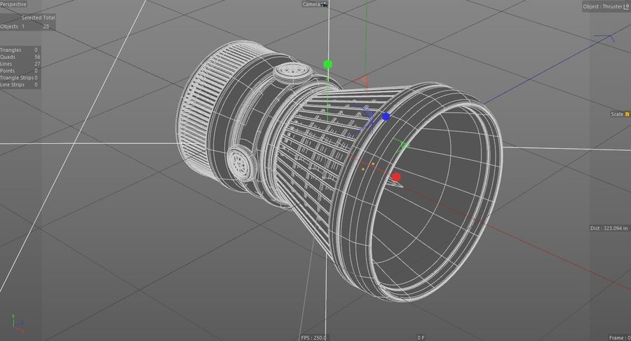 Spaceship Thruster royalty-free 3d model - Preview no. 5