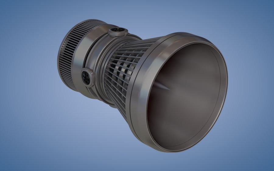 Spaceship Thruster royalty-free 3d model - Preview no. 1