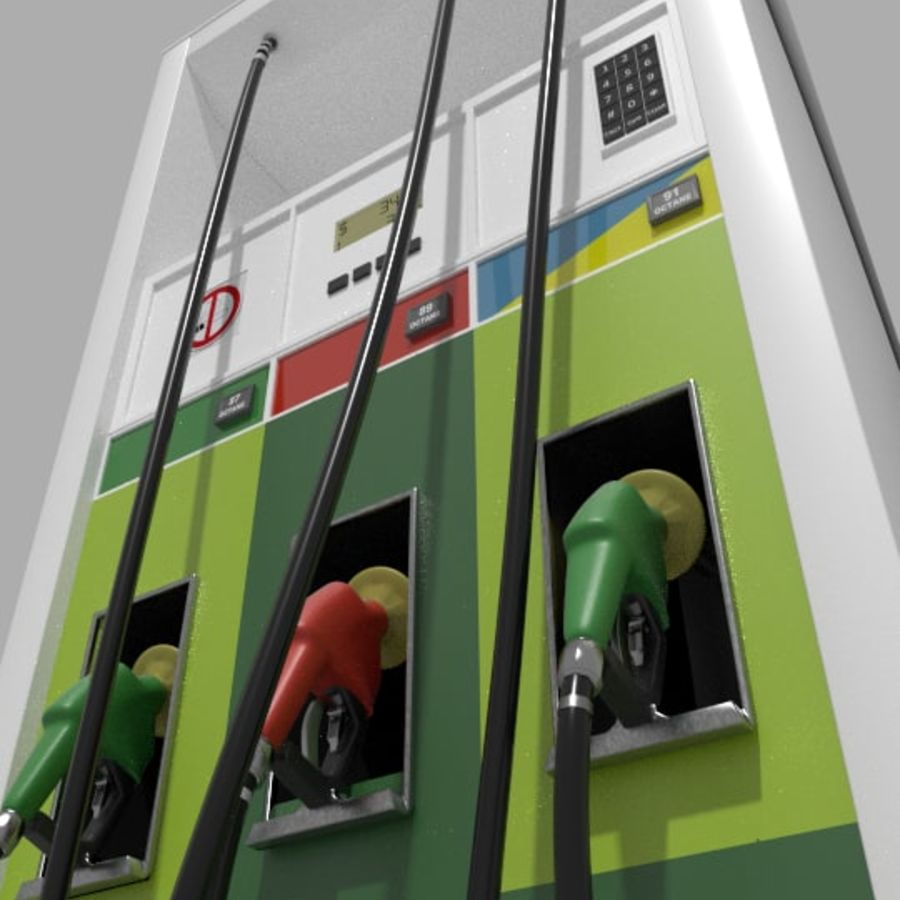 Gas Pump royalty-free 3d model - Preview no. 4