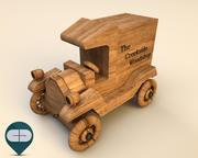 wooden car 5 3d model