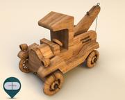 wooden car 7 3d model