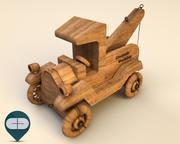 coche de madera 7 modelo 3d