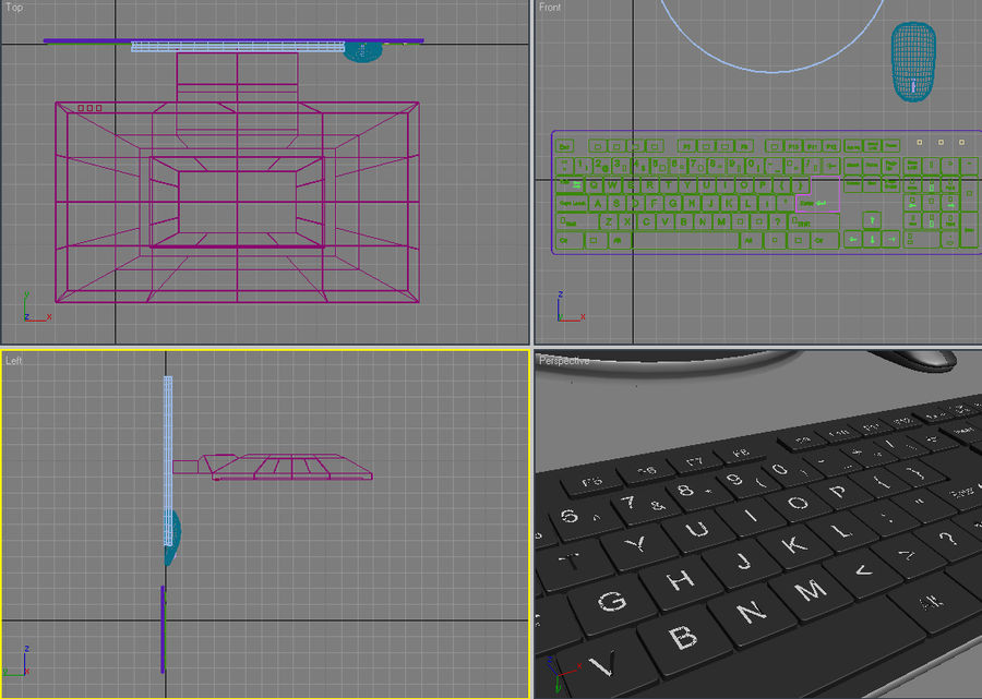 toetsenbord royalty-free 3d model - Preview no. 5