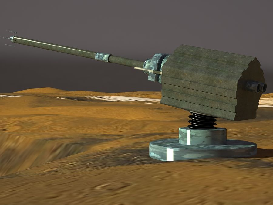 artillery sci-fi cannon royalty-free 3d model - Preview no. 2