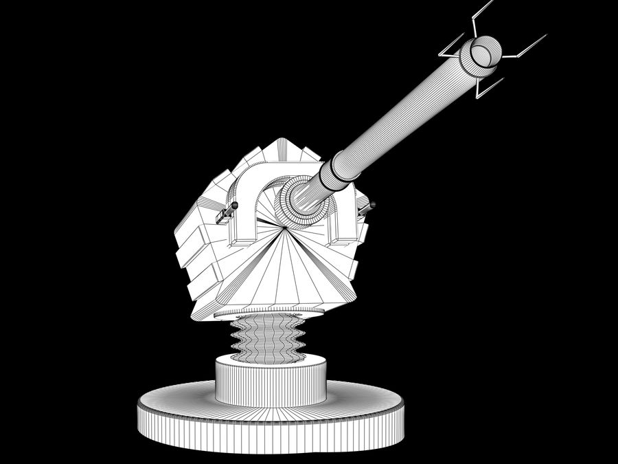 artillery sci-fi cannon royalty-free 3d model - Preview no. 4
