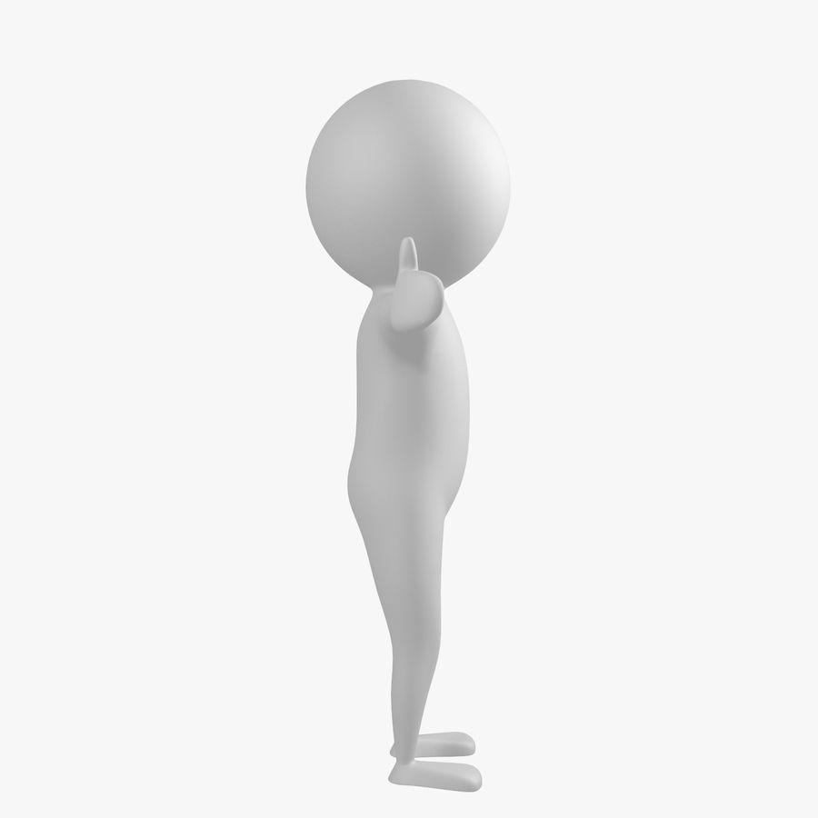 Виртуальный человек royalty-free 3d model - Preview no. 4