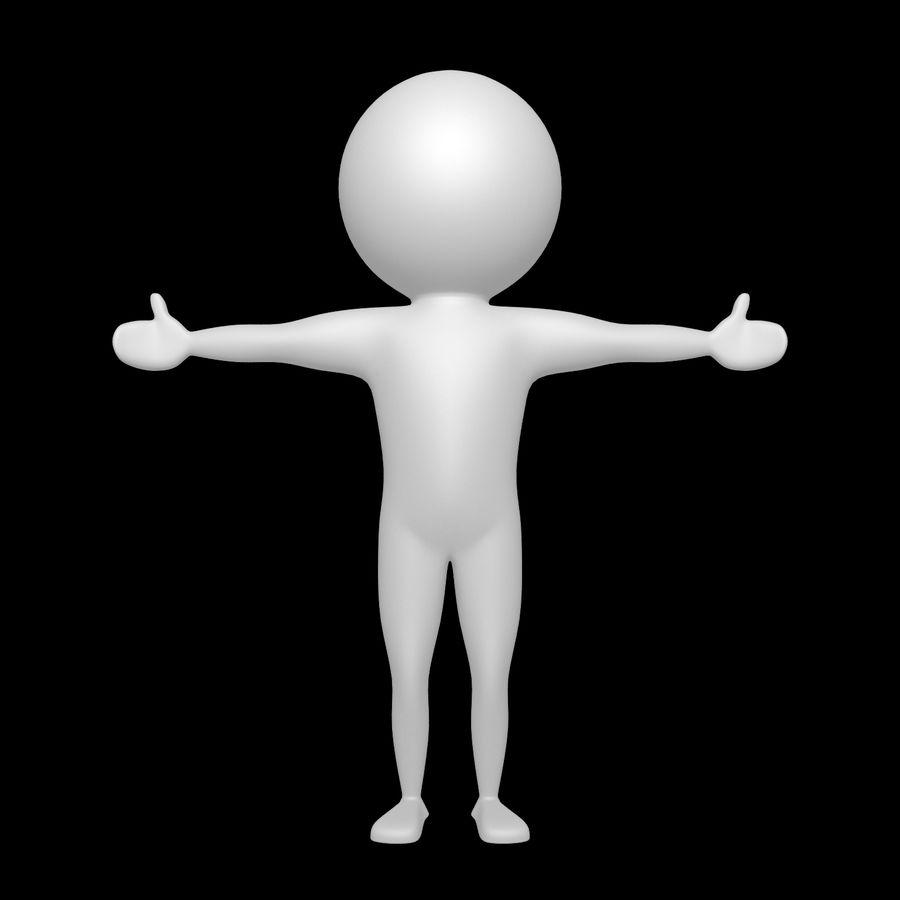 Виртуальный человек royalty-free 3d model - Preview no. 2