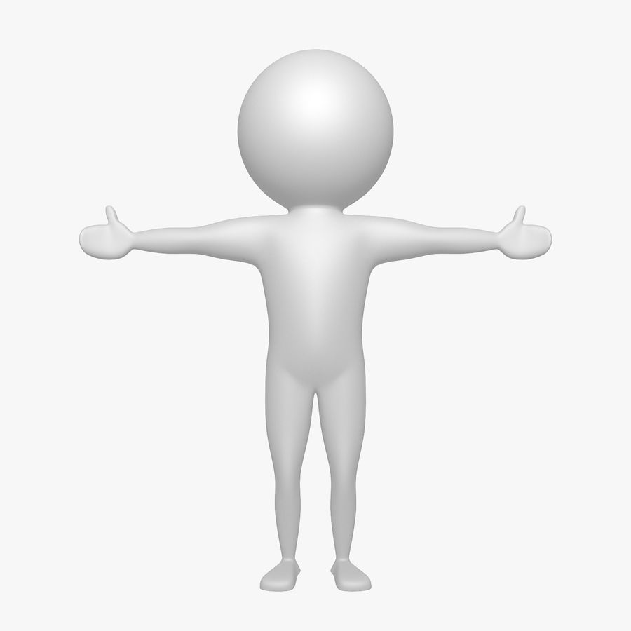 Виртуальный человек royalty-free 3d model - Preview no. 1