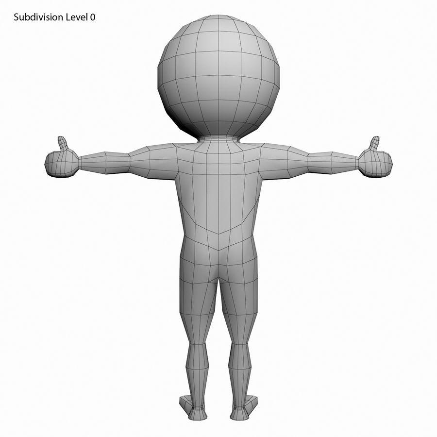 Виртуальный человек royalty-free 3d model - Preview no. 11