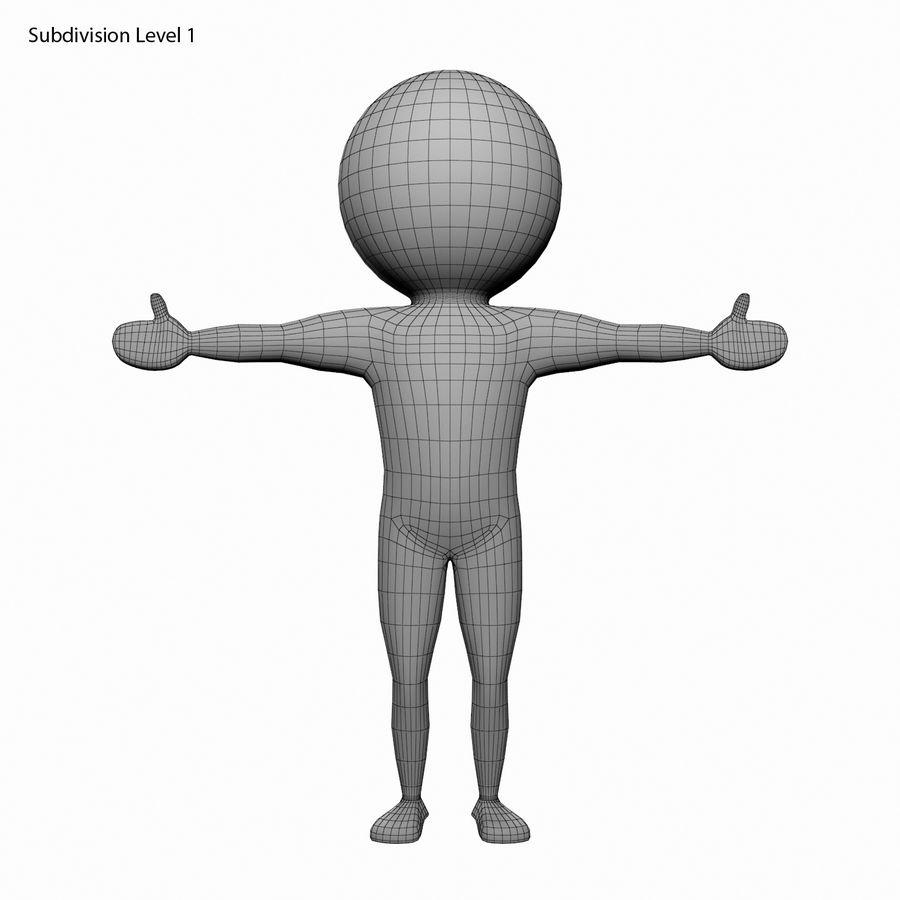 Виртуальный человек royalty-free 3d model - Preview no. 10