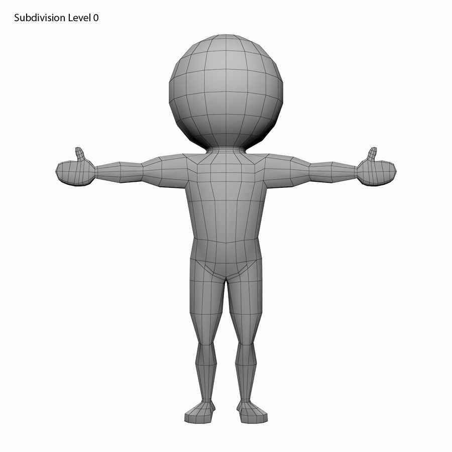 Виртуальный человек royalty-free 3d model - Preview no. 9