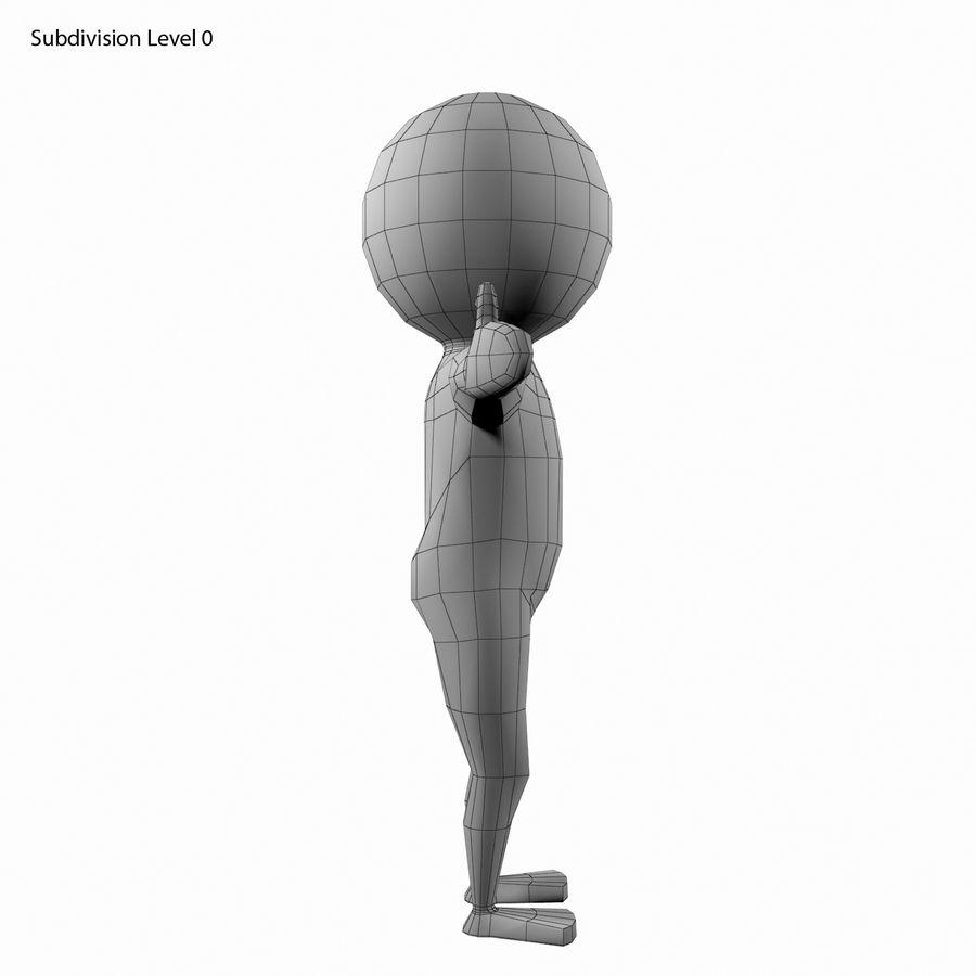 Виртуальный человек royalty-free 3d model - Preview no. 13