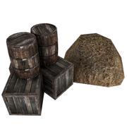 barrel box straw 3d model
