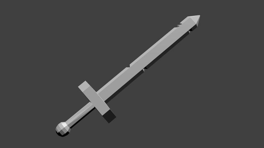 Miecz Pora Na Przygodę (Low Poly) royalty-free 3d model - Preview no. 2