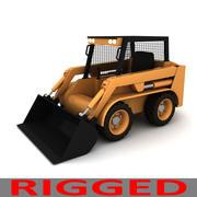 Rigged Bobcat - Skid Steer Loader 3d model
