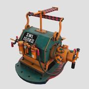 蒸汽朋克绞车发动机 3d model