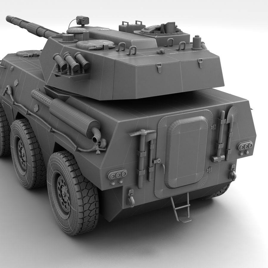 Rusty Tank Destroyer royalty-free 3d model - Preview no. 22