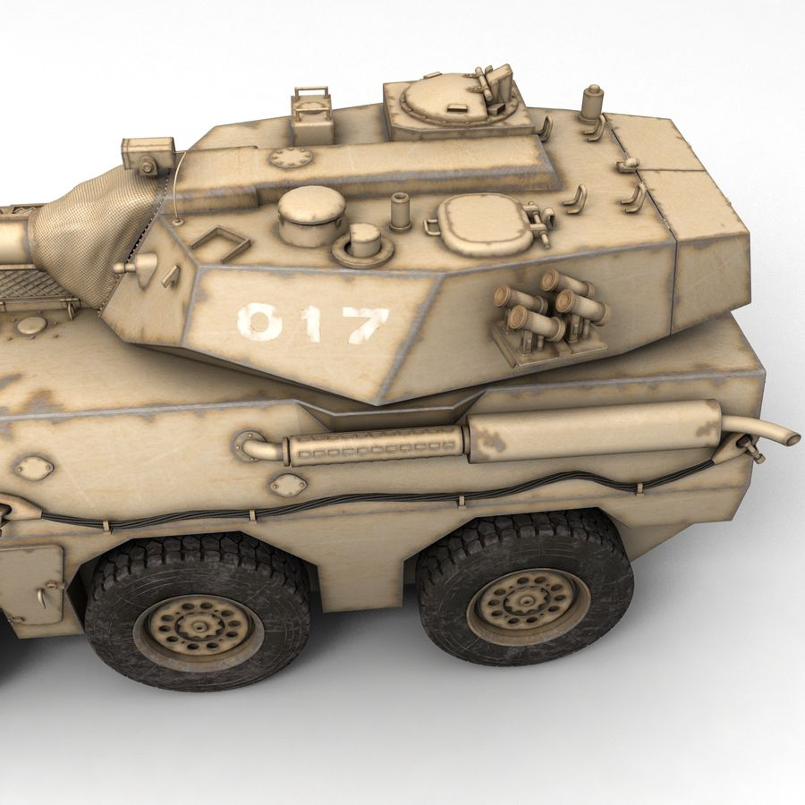 Rusty Tank Destroyer royalty-free 3d model - Preview no. 7